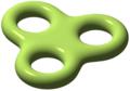 Genus är ett begrepp inom algebraisk topologi. Trippeltorusen har genus 3.