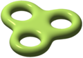 Objekt med genus tre. Matematiskt, liksom i genusteorin, kan man ha oändligt många genus.