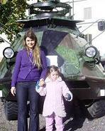 Jag och min dotter besöker Armémuseum