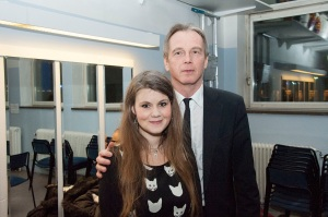 Jag och Jan Sjunnesson (Fri Folkbildning Tankesmedja) på mitt genusföredrag i förrgår. Tack alla som kom!
